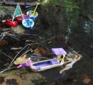 A fairy pulled the barge